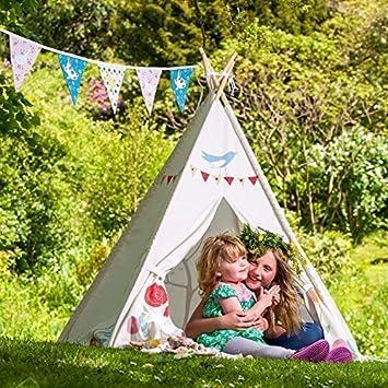 sc 1 st  Amazon UK & Childrenu0027s Teepee - Gracieu0027s Garden - Designed Printed u0026 Handmade ...