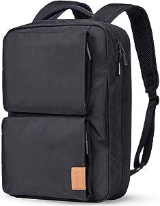 Lymmax Laptop Backpack 15.6 Inch, Hidden Handle & Shoulder Strap Design Waterproof College Backpack, Slim Convertible Bookbag for Business School Travel Daypack