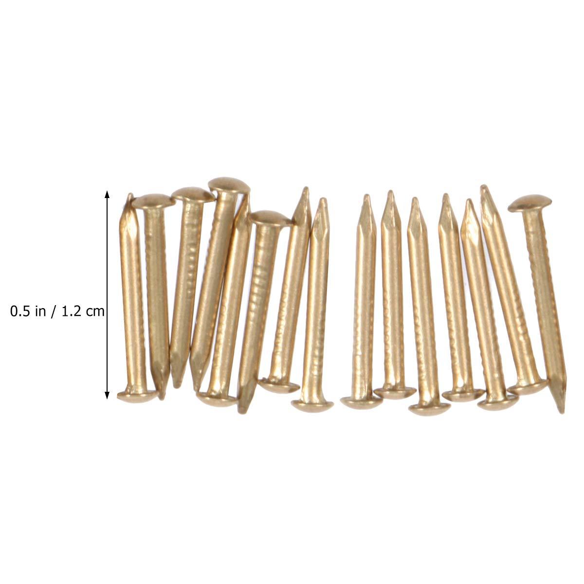Yardwe 200pcs Kupfern/ägel f/ür das T/öten der Baumstumpf-Abbau-Spitzen golden
