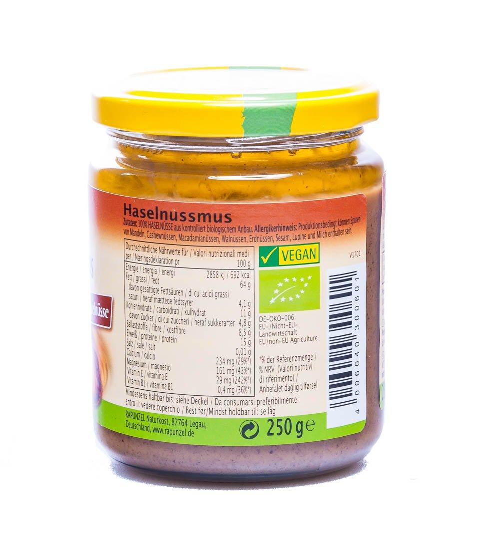 Amazon.com : Rapunzel Haselnussmus, Projekt, demeter, 1er Pack (1 x 250 g) - Bio : Grocery & Gourmet Food