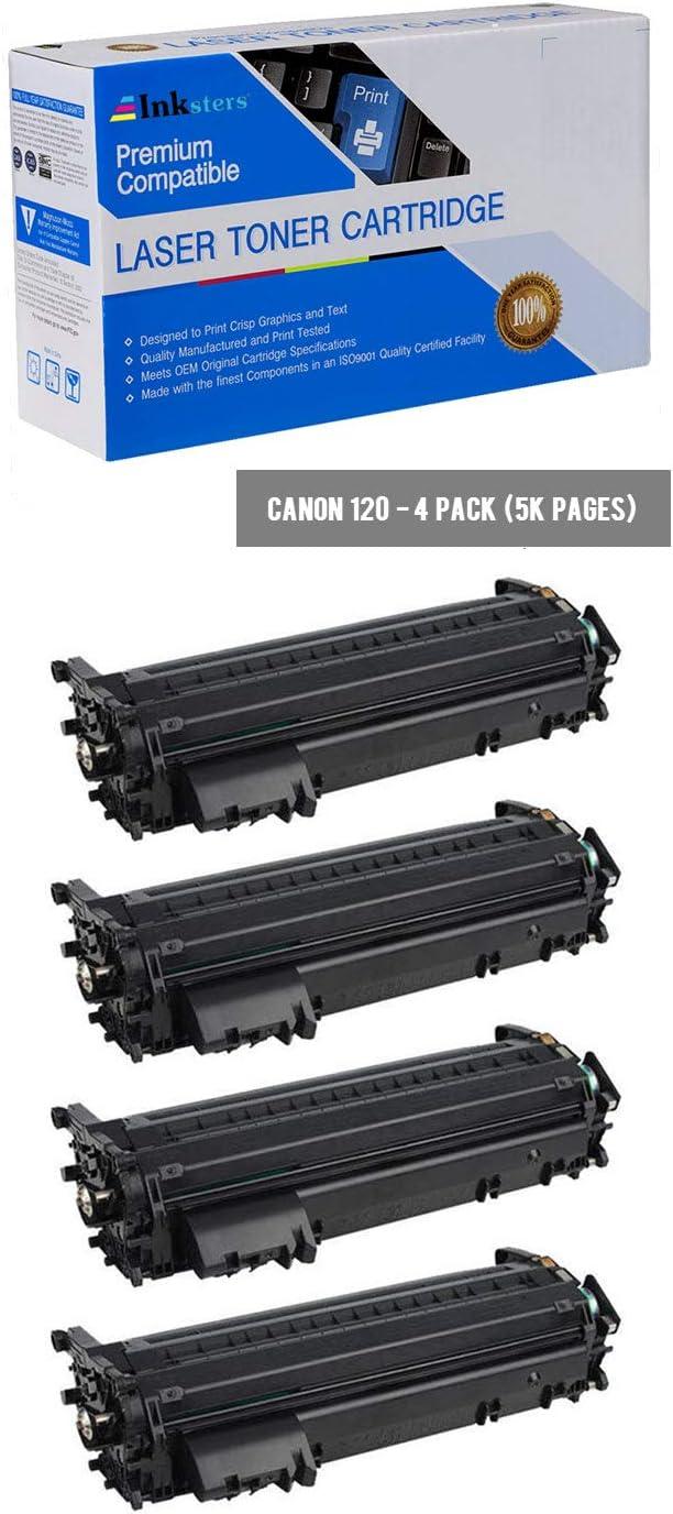 Compatible with ImageCLASS D1120 D1150 D1170 D1180 D1320 D1350 D1370 Inksters Compatible Black Toner Cartridge Replacement for Canon 120//2617B001AA