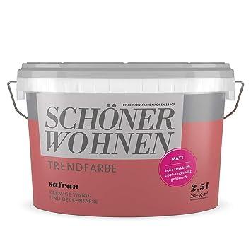 2,5L Schöner Wohnen - Trend Wandfarbe matt Safran: Amazon.de: Baumarkt
