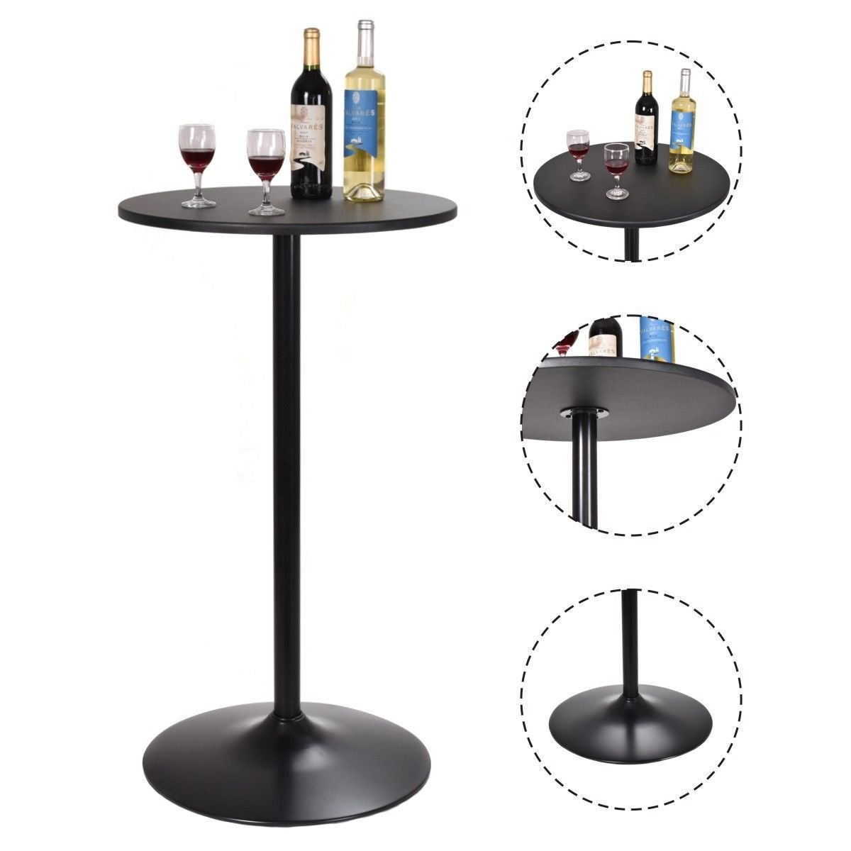Bar Table Bistro Pub Counter Home Outdoor Indoor Kitchen Furniture 24
