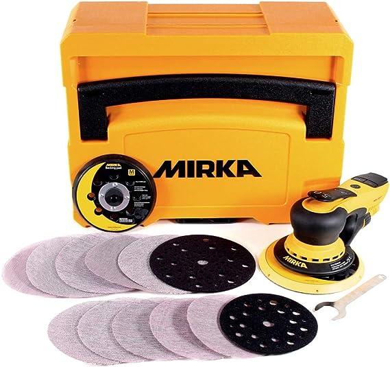 5 Schutzauflagen Mirka für Ø125 mm Teller Ø 125 mm Klett Loch 5-Abranet