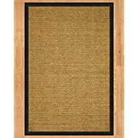NaturalAreaRugs Sorrento Collection Sisal Area Rug, Handmade in USA, 100% Sisal, Non-Slip Latex Backing, Durable, Stain Resistant, Eco/Environment-Friendly, (3 Feet x 5 Feet) Black Border