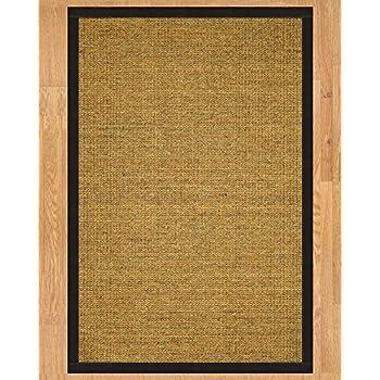 NaturalAreaRugs Sorrento Sisal Area Rug Handmade In USA 100 Percent Non Slip Latex Backing Durable Stain Resistant 9 X 12 Black Border