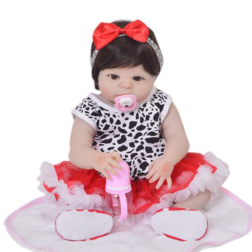 Candyana Reborn Simulation Baby Big Eyes schwarz Hair Birthday Gift Cute Female Dolls Geschenke 57cm B07KTZT916 Babypuppen Deutschland | Niedrige Kosten