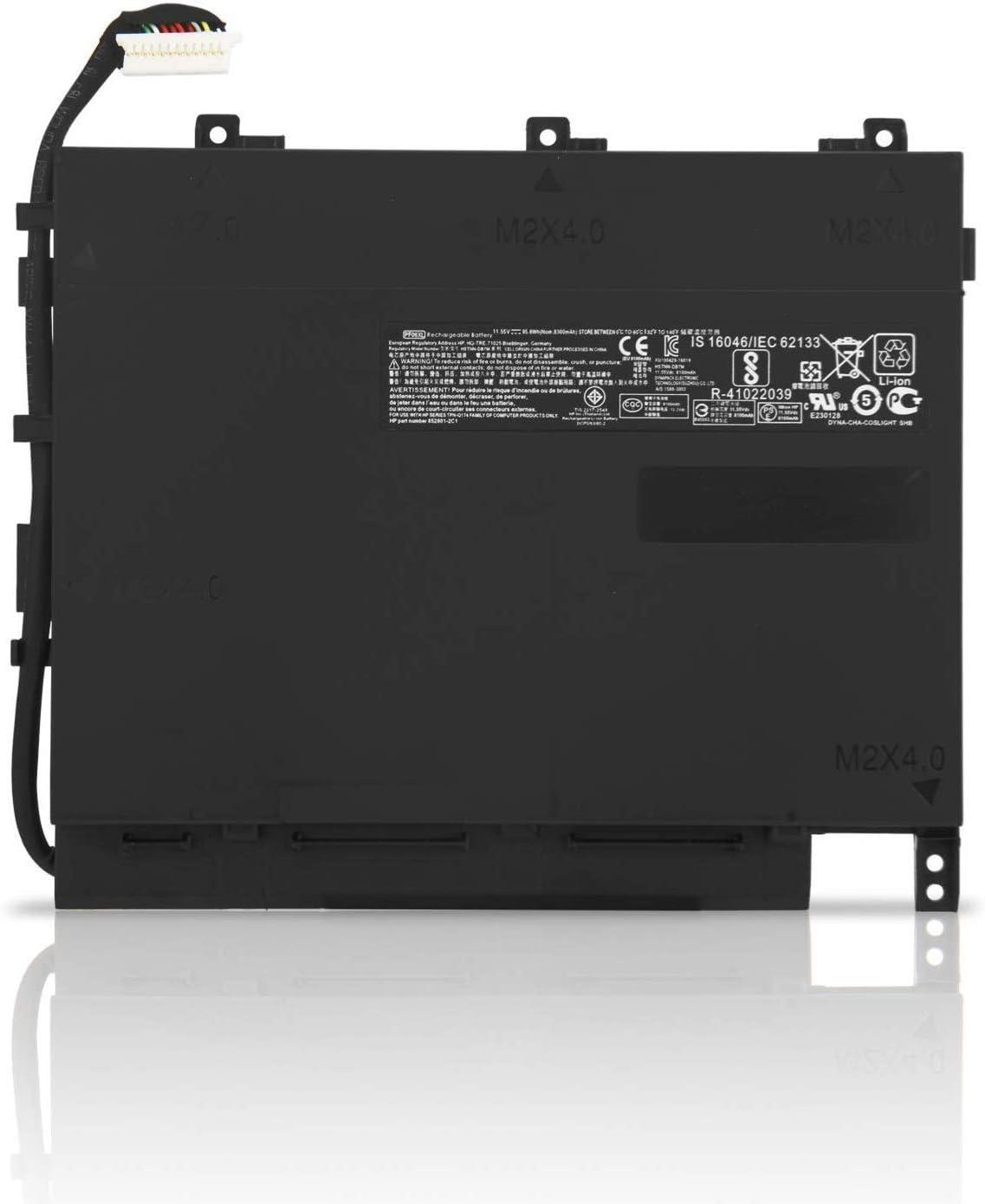 ZTHY PF06XL Battery for HP Omen 17 GTX 1060 17-w100 17-w100ng 17-w101ng 17-w109ng 17-w131ng 17-w240ng Plus 17-w119tx 17-w120tx 17-w205tx HSTNN-DB7M 853294-855 TPN-Q174 11.55V 95.8Wh 8300mAh 6Cell