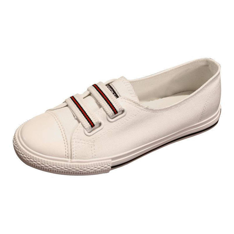 Amazon.com | Ngjifvjishu Womens Vulcanize Shoes Classic Canvas Shoes Female Casual Solid White Sneakers | Fashion Sneakers