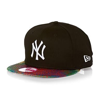 04f377d8b9be7a New Era 9fifty Visor Snake New York Yankees Cap - Black/neon Rainbow Snake/white:  Amazon.co.uk: Clothing