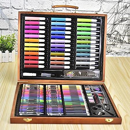 Kit De Arte Profesional Kit De Arte De Lápices De Colores De 150 Piezas para Niños Paquete De Arte De Lápices De Colores para Niños Y Adultos Set De Dibujo Y Más: