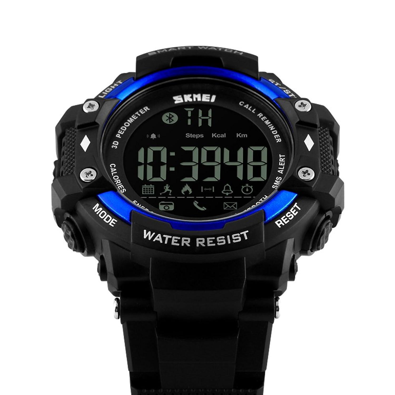 Men 's Large Dial /アウトドアスポーツステップカウンタテーブル/リモートコントロール画像スマートwatches-b B06XCLBR1L
