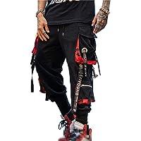 Mannen Jogger Broek Punk Cargo Baggy Techwear Hip Hop Harem Broek Streetwear Tactische Track Broek