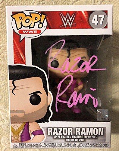 (RAZOR RAMON SCOTT HALL Signed Autographed WWE FUNKO POP WITNESS COA 3 - JSA Certified - Autographed Wrestling Cards)