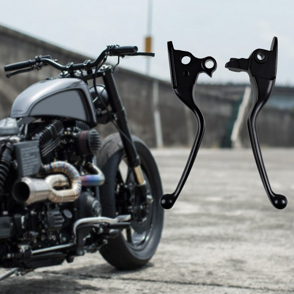Chrome Wide Blade Ergonomic Brake Clutch Hand Levers Fit 2008-2013 Harley Touring Trike