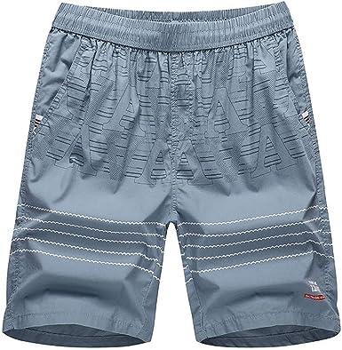 MMUJERY Pantalones Hombre-Pantalones Cortos Hombre-Pantalones Cortos de poliéster para Hombres-Pantalones Cortos Sueltos para Hombre-Pantalones Chandal Cortos Hombre-Pantalón Corto Casual de Hombre: Amazon.es: Ropa y accesorios
