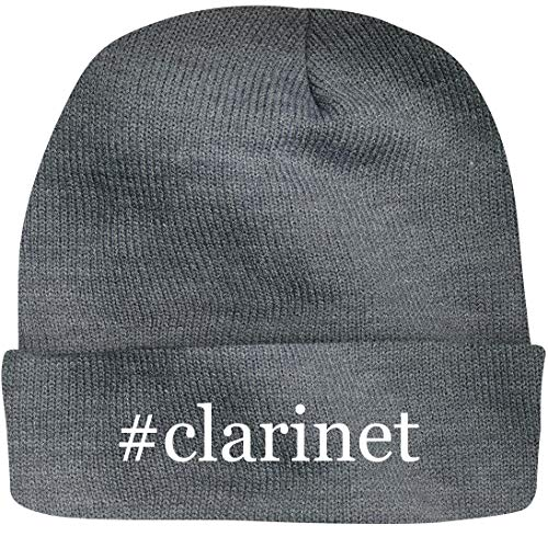 SHIRT ME UP #Clarinet - A Nice Hashtag Beanie Cap, Grey, OSFA