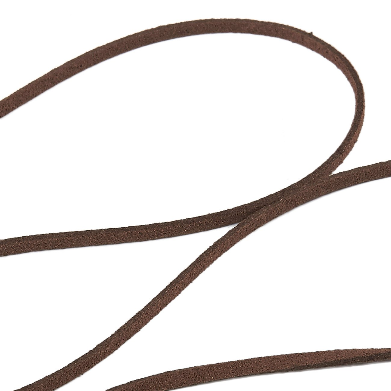 100-Yard Suede Leather Strap Beading Cord 0.08 Inches Wide Faux Leather Cord Caramel Flat Leather Lace Spool