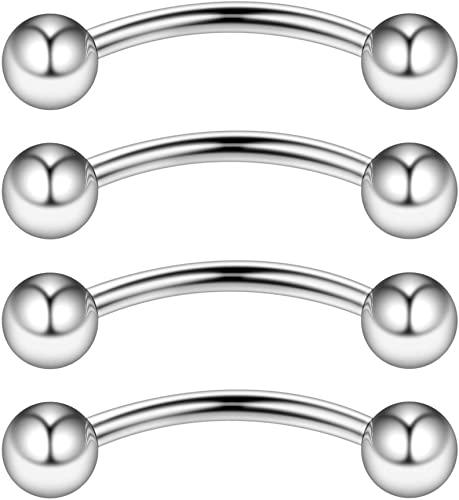 14G OR 16G SURGICAL STEEL SNAKE EYES BITES TONGUE BARBELL IN 2 SIZES 1 ONE