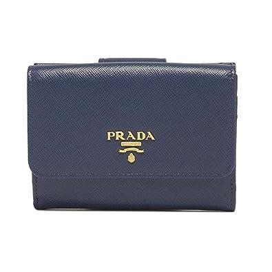 1994780b42f4 (プラダ) PRADA 折り財布 Logo Leather Wallet ロゴ レザーウォレット 1MH523QWA レディース F0016  BLUETTE