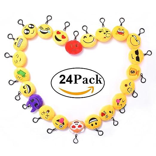 18 opinioni per 24 pezzi Mini Portachiavi Emoji- Faccine Portachiavi Emoticon Più Usate su