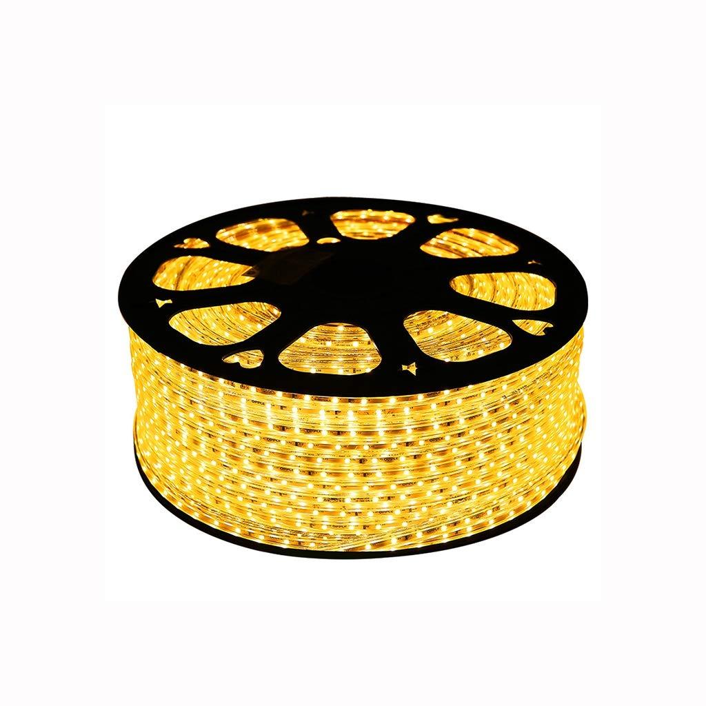 Luces de tira del LED 10m-100m, nastro LED 4,5 w m, nastro LED giallo impermeabile Para la decoración interior de la cocina casera (dimensioni   50 m)