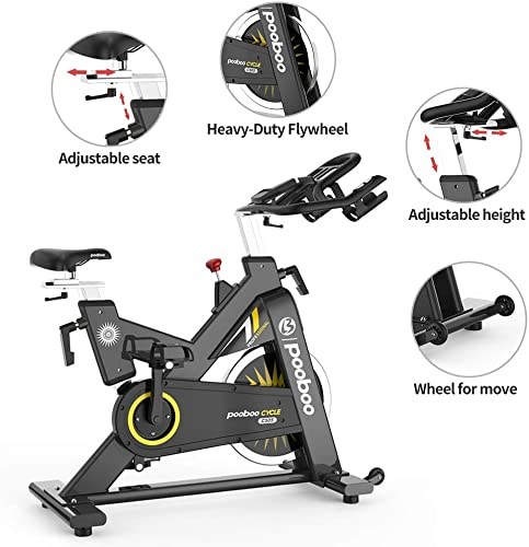 pooboo Indoor Cycling Bike Exercise Bike Stationary Commercial Standard