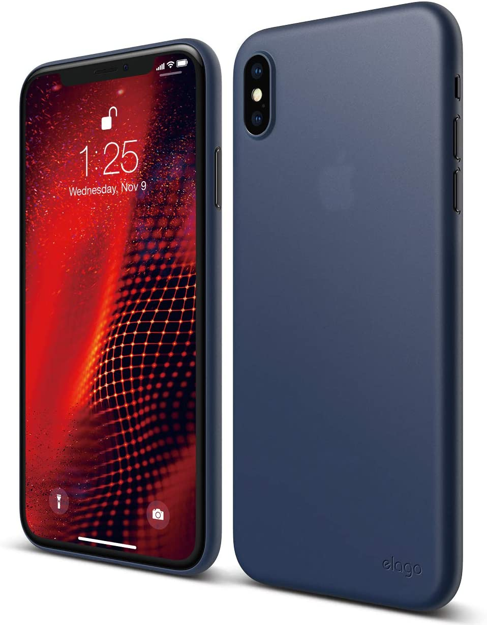 elago Inner Core Series for iPhone Xs Max case [Jean Indigo] – [Thinnest and Lightest][Prevent Discoloration][Support Wireless Charging][Only Protects Against Scratches] for iPhone Xs Max (2018)