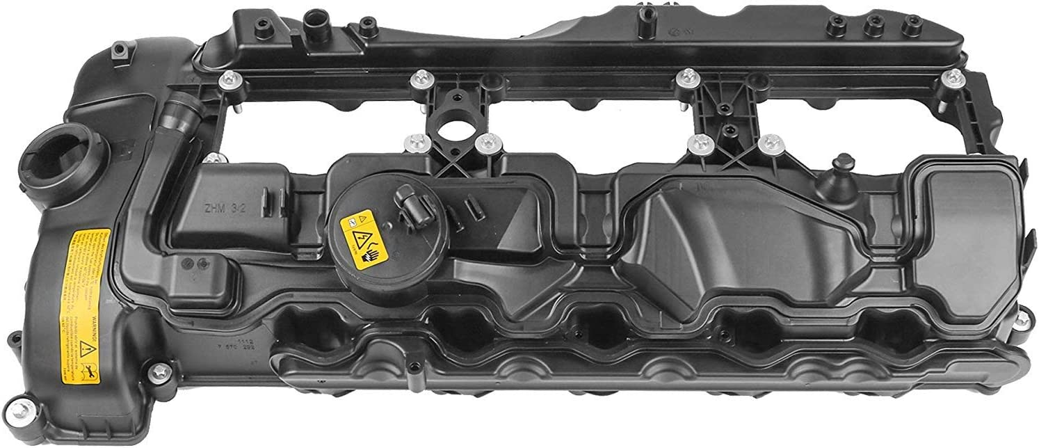 MOSTPLUS 11127570292 Engine Valve Cover Compatible with BMW 2011-2014 X3 X5 X6 335i 535i 2013-2014 740i 2012-2014 640i 2011-2013 135i