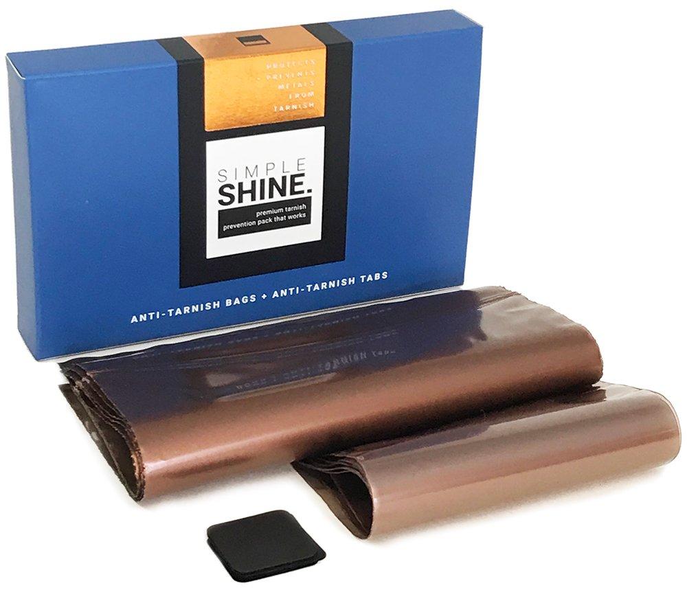 Premium Silver Jewelry Tarnish Prevention Bags Anti-Tarnish Strips 10 Bags 20 1'' Tabs Corrosion Protector