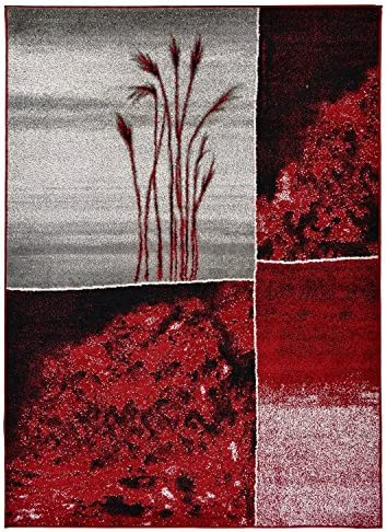 RugStylesOnline Designer Collection Wheat Nature Design Modern Contemporary Area Rug, 39 L x 24 W, Red