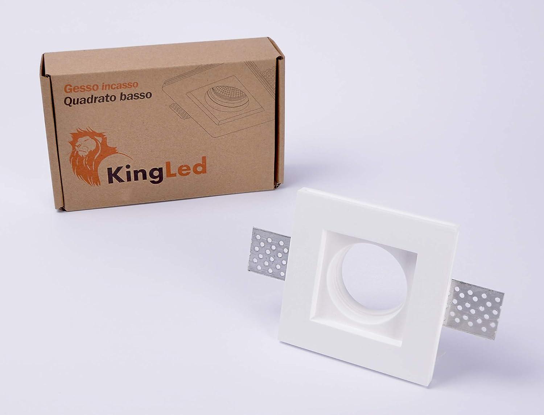 Support Encastrable Gu10 Pitturable De Craie Plâtre Projecteur En Carré Spot Mince Led Kingled Qualité Pour Haute Et Douille Résine D29HWYeEIb