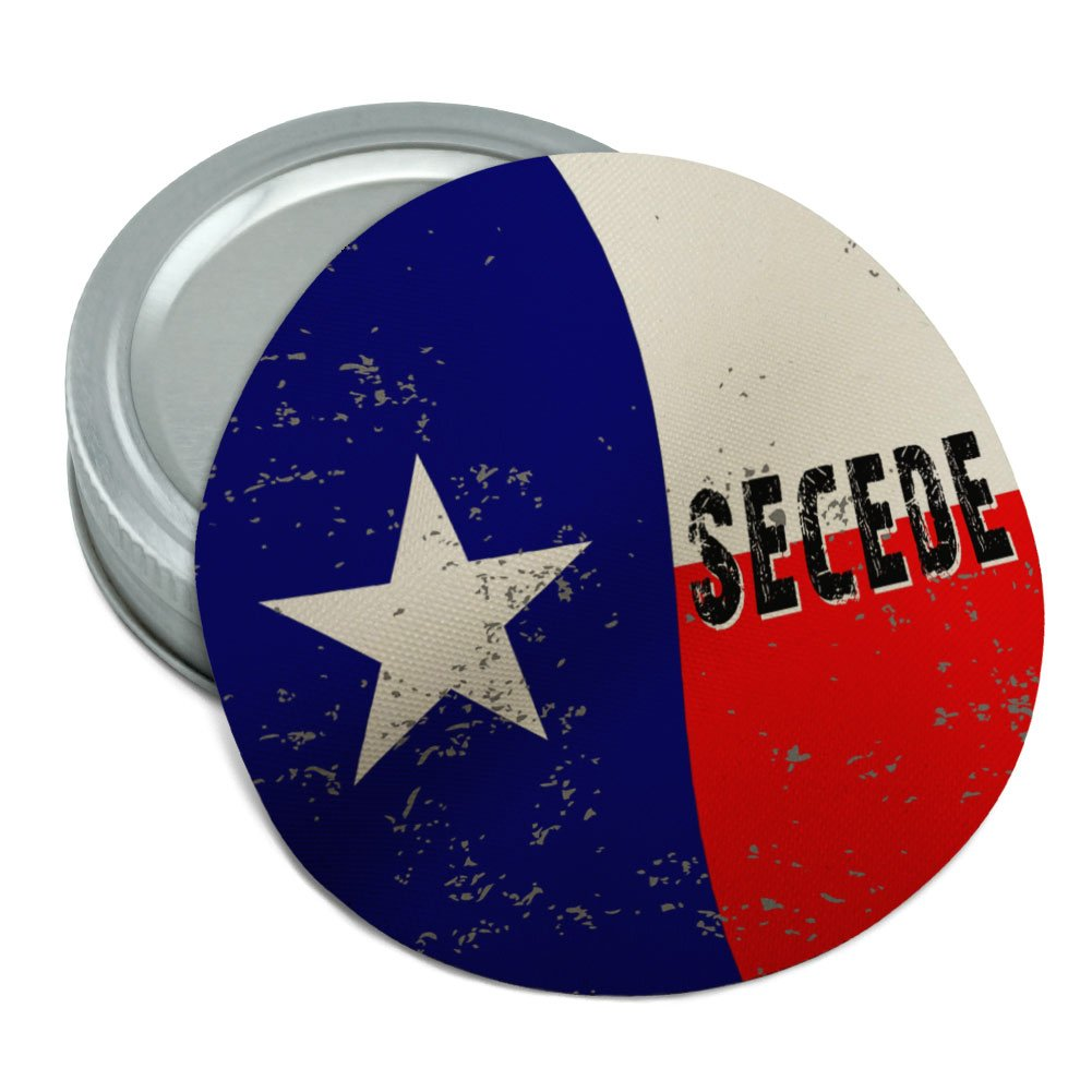 SECEDE Texas Flag Distressed Round Rubber Non-Slip Jar Gripper Lid Opener Graphics and More