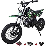 X-Pro 110cc Dirt Bike Pit Bike Kids Dirt Pitbike 110 Dirt Pit Bike with Gloves, Goggle and Handgrip (Blue)