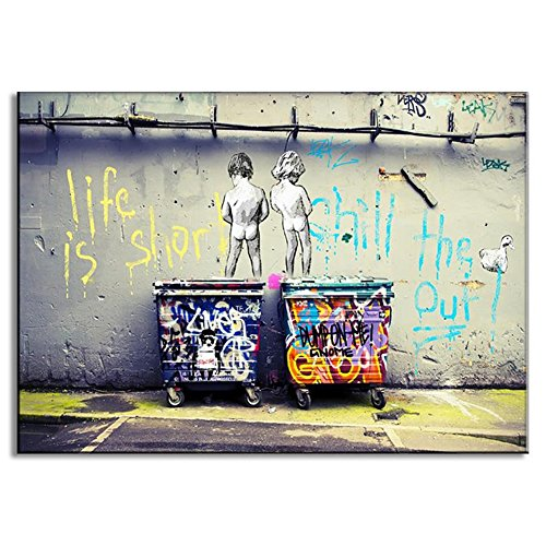 - Usaboutall Modern Wall Art Colorful Graffiti Funny Canvas Painting Gifts Bedroom Decor