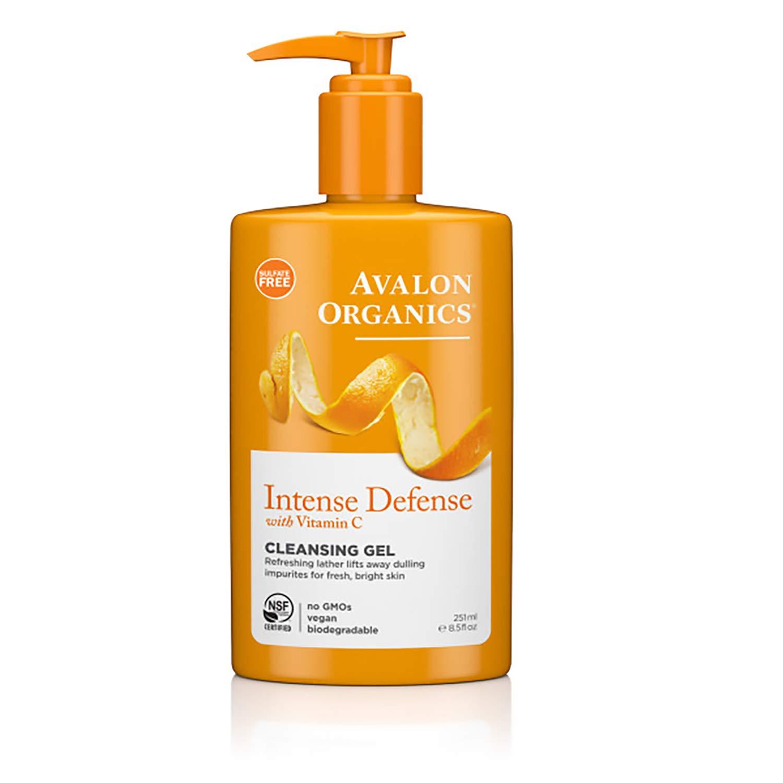 Avalon Organics Cleansing Gel, Intense Defense with Vitamin C, 8.5 Oz