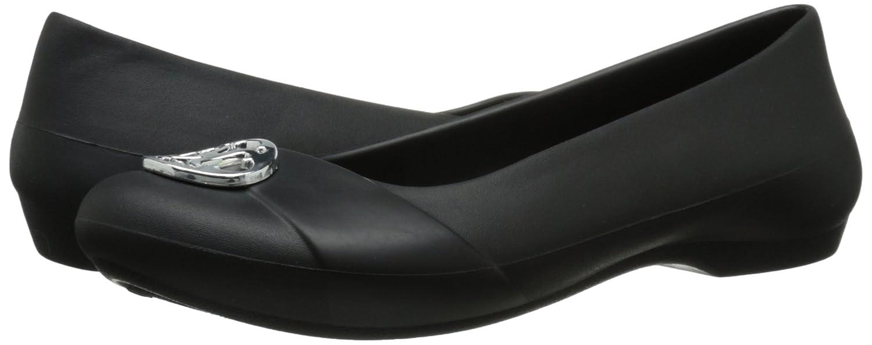 Crocs Women's Gianna Disc Flat B00REM18VW 7 B(M) US Black/Silver