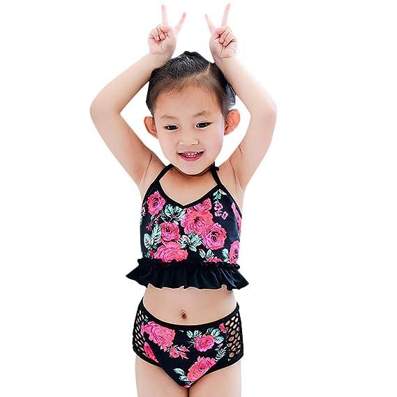 6875b0a66c0c Lonshell Cute Swimwear for Kids - Bikini para niños Lovely Floral ...