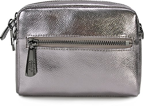 Gina Crossed All One Bag For Fits Green Metallic amp; Woman Gray Size Nylon Metallic Lucy George qtRwqd