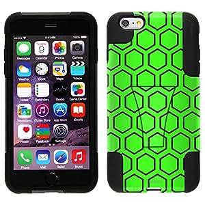 Trek híbrido funda para Apple Iphone 6PLUS–colmena verde