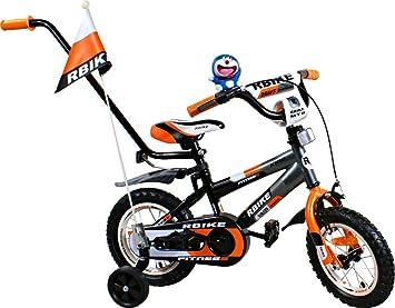 Bike - Bicicleta para ninos - Bicicleta BMX Rbike 3-12 Grey-Orange ...