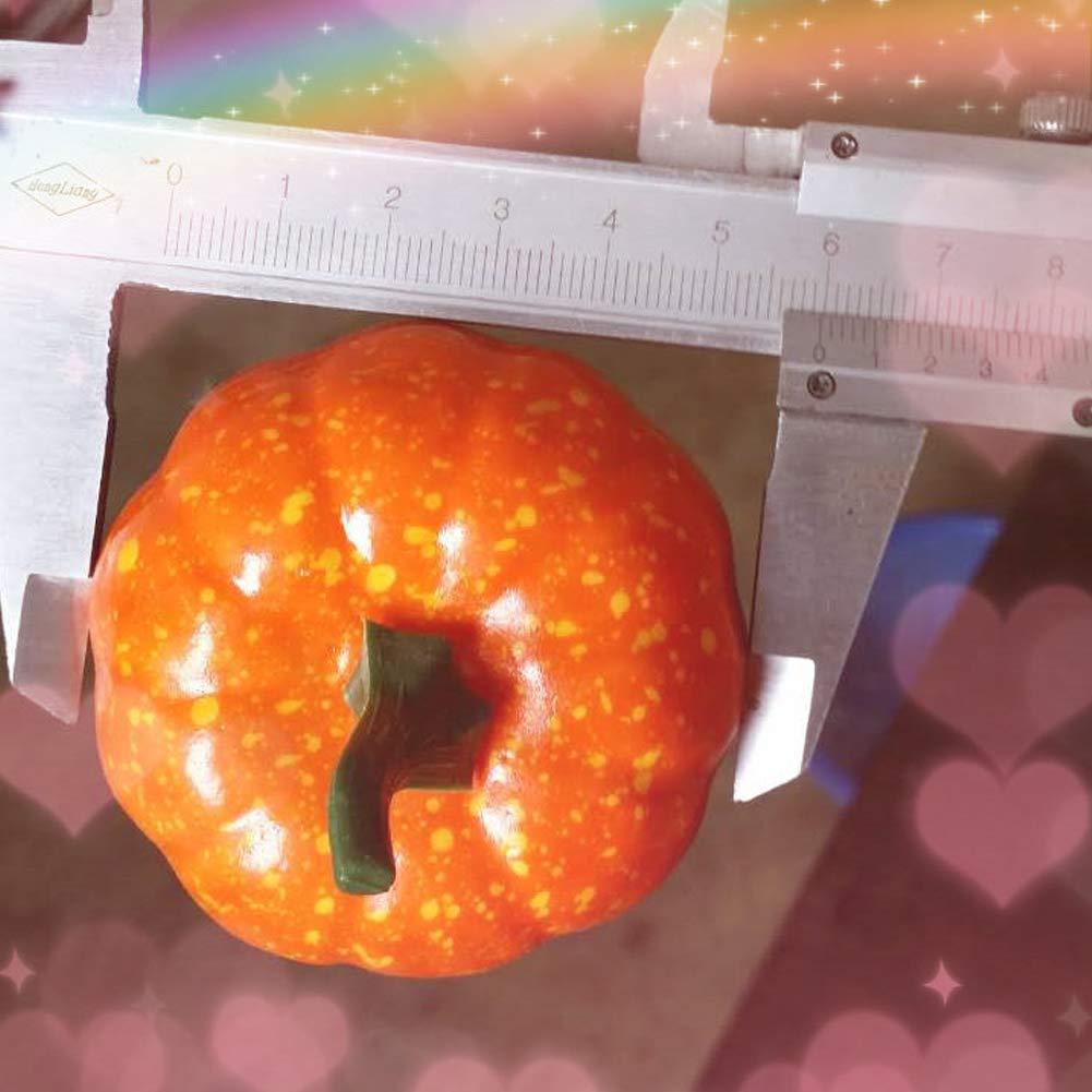 DOXMAL 16PCS K/ürbis Halloween Gem/üse Dekoration,K/ürbis Orange Plastik Verzieren f/ür Aussen Garten
