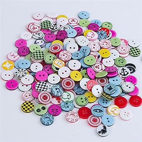 100 unds botones infantiles alegres colores y diseños ...