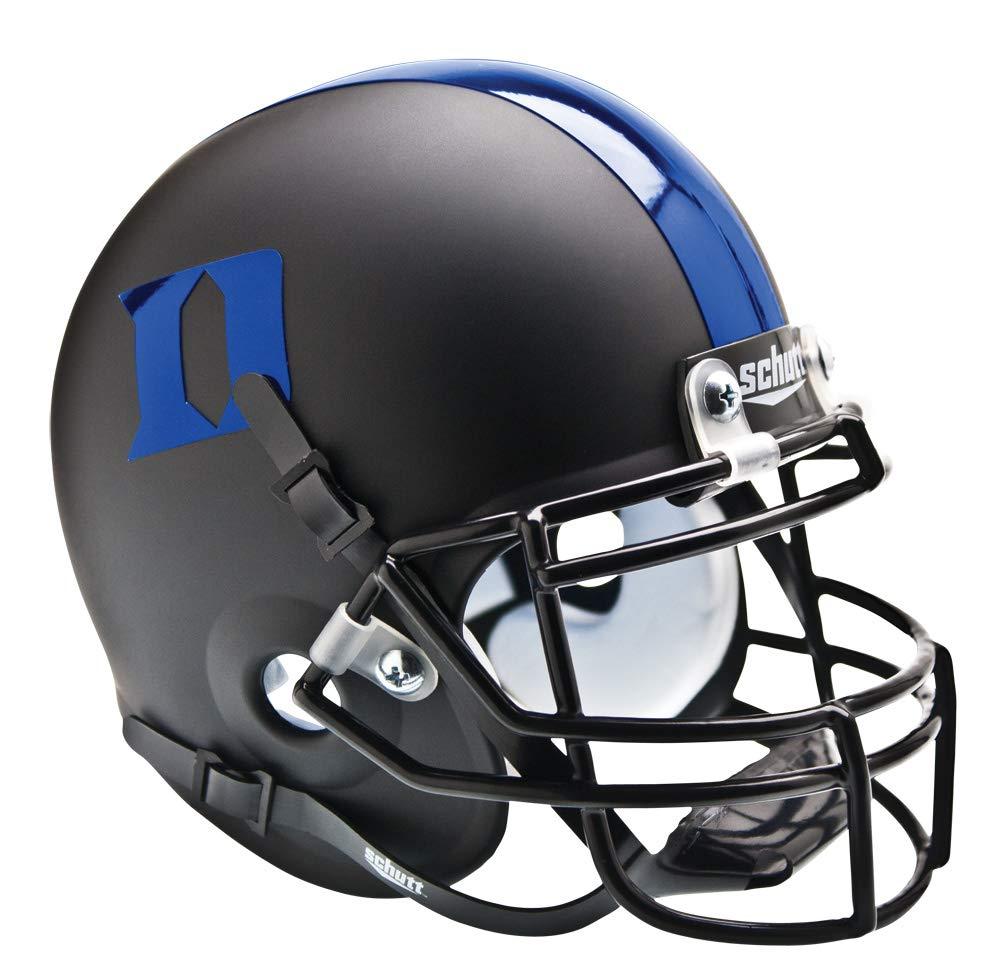 Matte Black blueee Schutt NCAA Duke blueee Devils Mini Authentic XP Football Helmet