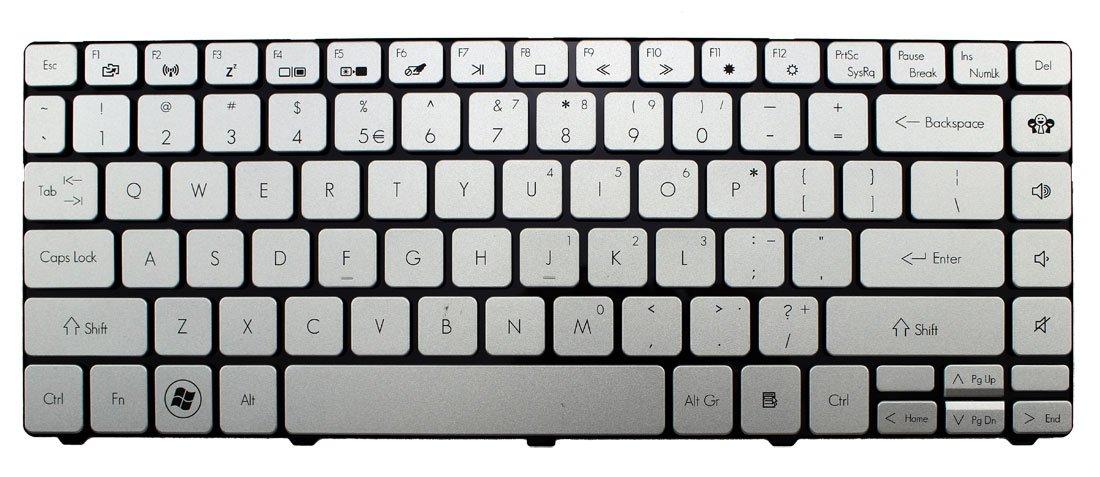 CHNASAWE Laptop US Silver Keyboard for Acer TravelMate 8481 8481G 8481T 8481TG
