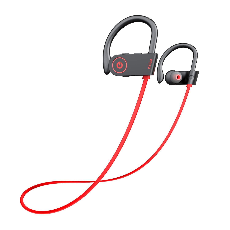 Otium Bluetooth Headphones Best Wireless Earbuds Ipx7 Waterproof Sports Earphones W Mic Hd Stereo Sweatproof In Ear Earbuds Gym Running Workout 8 Hour Battery Noise Cancelling Headsets Buy Online In India Electronics