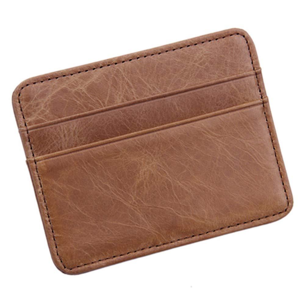 Convinced- Home & Garden Zipper Wallets,Travel Wallets,Men's Women's ID Credit Card Wallet Leather Small Holder Slim Pocket Case