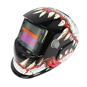 Hanbaili Casco de soldadura, transformadores rojos Casco de oscilación auto del casco de soldadura accionado