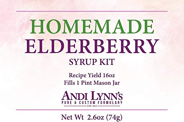 100 Organic Elderberry Syrup Kit – Makes 16oz of Syrup – DIY – Natural Immune Support – Elderberries – Ginger – Lemon Peel – True Ceylon Cinnamon