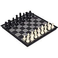 مجموعة شطرنج مغناطيسية محمولة مع لوح قابل للطي، ألعاب تعليمية للصغار والكبار